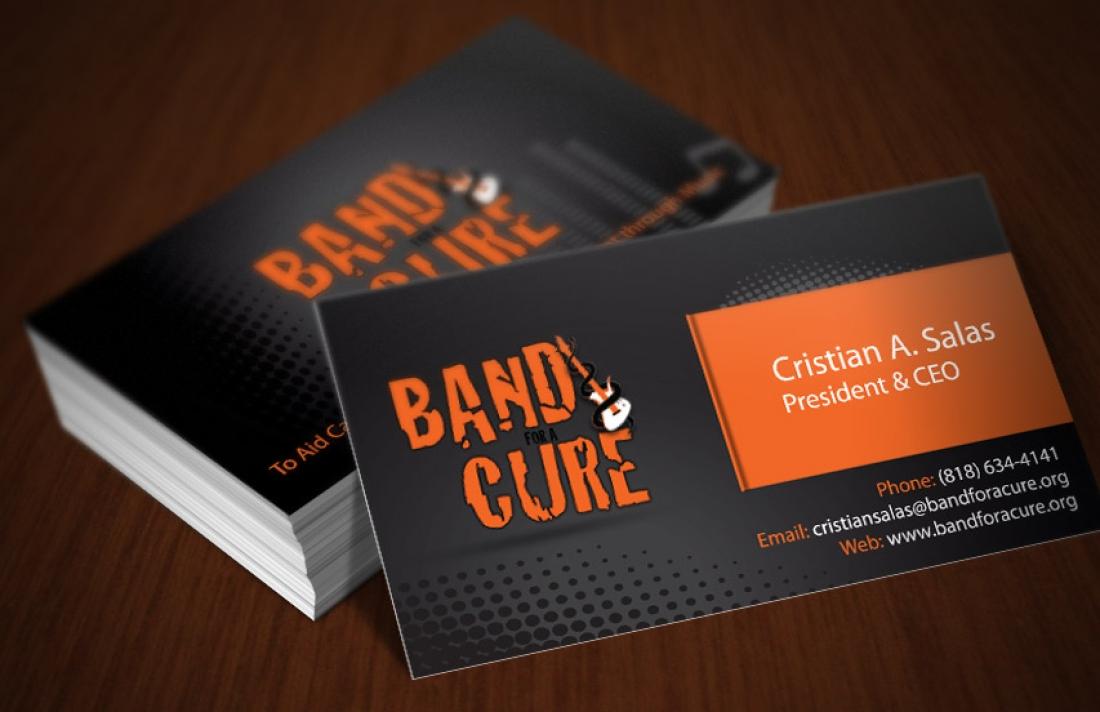 Band for a Cure Business Card Design – Website Designer Specialist ...